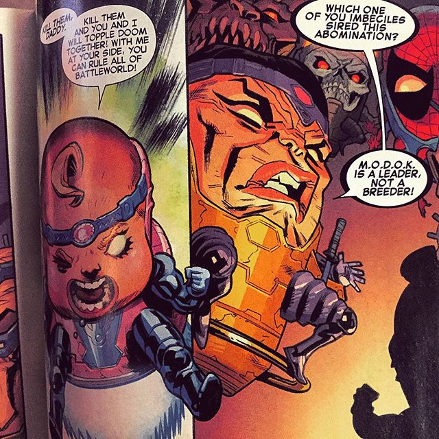 #MODOK #MARVEL #MarvelComics #comicBooks #ComicBook #ComicBookArt #ComicArt #SecretWars #SecretWars2015 #spiderman #PeterParker #battleWorld #GodDoom #earth616 #earth1610 #Ultimate #UltimateEnd #HipHop #MODOKassassin #Thor #Wolverine #hulk #drStrange #stephenStrange #leaderNotAbreeder