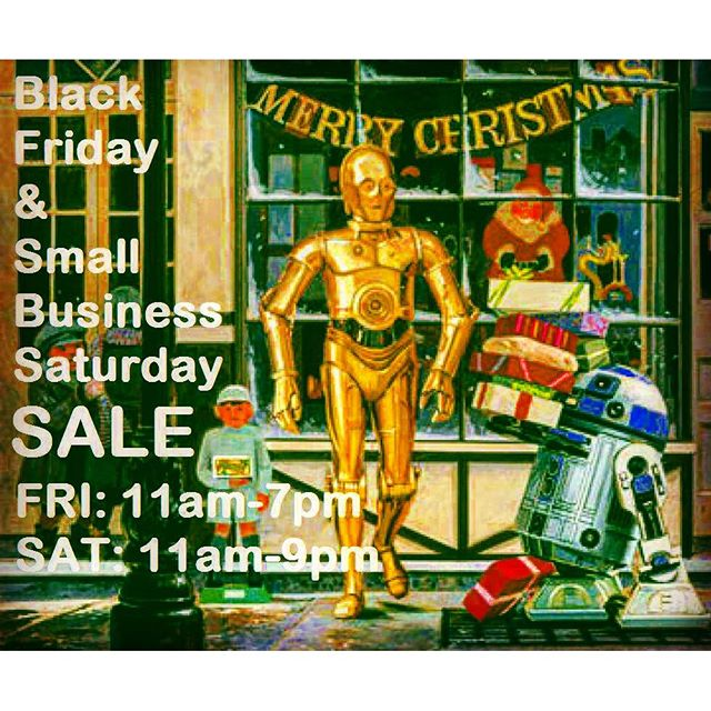 Exciting week ahead, new comics on Wednesday Nov. 25th! Closed for Thanksgiving. Then, on Friday #RobotZero's BLACK FRIDAY SPECIALS that continue THROUGH Saturday for the ARTificial Intelligence Art Show on Small Business Saturday, Nov. 28th! #Ashtabula #GenevaOhio #GenevaOH #comicbooks #starwars #hansolo #AshtabulaCounty https://www.facebook.com/events/1505720919727680/