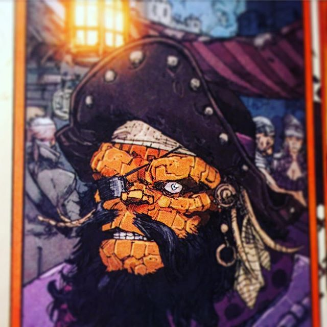 Favorite panel of 2016 so far! #MarvelComics #TheUltimates #PirateThing #AlternateTimeLines #BenGrimm #TimeTravel #ComicArt #Comics #Comicbooks #FantasticFour #GOTG #Guardians #Ashtabula #AshtabulaCounty #GenevaOhio #clevelandgram #cleveland #NEOhio #Bula