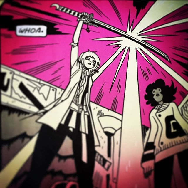 "Xasha & Puff from ""Dream Skills"" one story from comic anthology Sun Bakery by @okaycoreyy! Published by @imagecomics, issue #3 will be on shelves this Wednesday 5/24 at Robot Zero! #ShonenJump #anime #sun bakery #metroid #DreamSkills #comics #comicbooks #comicart #instacomics #imagecomics #anthology #mechsuit #samus #aremLightstorm #sunbakery #GenevaOhio #ashtabulacounty #SpaceDocumentary"