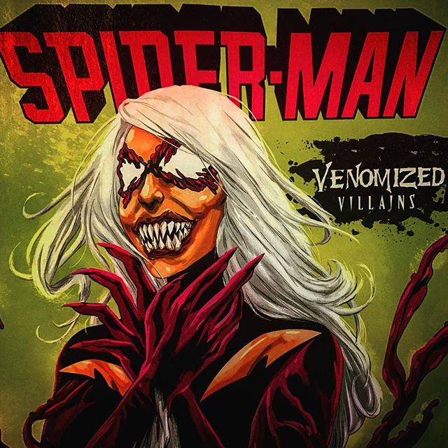 #BlackCat #Venomized variant for #SpiderMan #20! One of my favorite covers this week! See more Venomized #villain variants at @robotzero_  this entire month. #GenevaOH #Ashtabula #AshtabulaCounty #bula #comics #comicart #comicbooks #comicbook #MarvelComics #marvel #amazingspiderman #spidermanhomecoming #DCComics #sinistersix #ohio #CLE #cleveland @mingdoyle