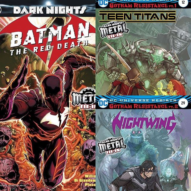 For sale, Dark Nights Tie-Ins #Batman The Red Death & Gotham Resistance parts 1 & 2! First appearances by The #BatmanWhoLaughs & #batmanthereddeath! Cover price + shipping, message us for details. #TeenTitans #Nightwing #DcComics #comicbooks #gothamresistance #gotham #detectivecomics #comicart #comicbooks #comicbook #comics #instacomics #instadaily #DarkNights