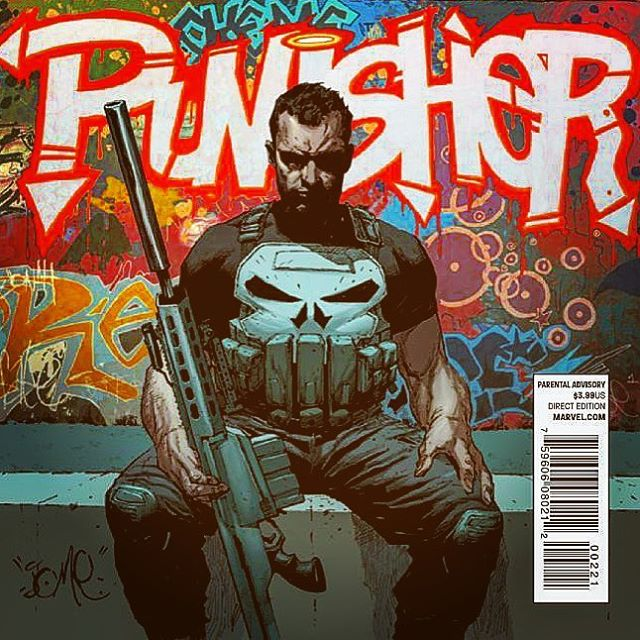 Frank Castle is no joke. Neither is the @jomeopena art! #punisher #frankcastle #comicart #comicbooks #comics #comicbook #marvelcomics #dccomics #pullList #comichaul #instacomics #instacomics #filters #filtered #vigilante #killer #graphitti #graphittiart #marveluniverse #marvelcomicsgang #localcomicshop #NCBD #newcomicbookday #netflix @jonnybernthal #ashtabula #CLE #cleveland #GenevaOhio #GenevaOH