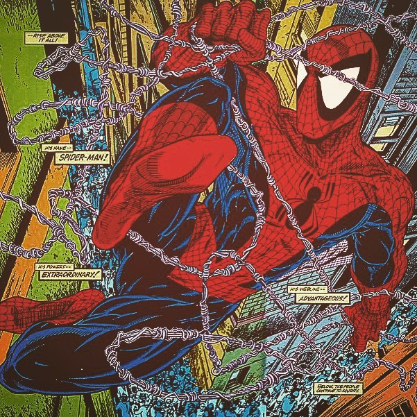 McFarlane's Spider-Man drew me into comics. His style was like nothing else & never reproduced, only imitated. So...Is Throwback Thursday still a thing? #tbt #ToddMcfarlane #McfarlaneArt #ComicArt #Spiderman #peterparker #spectacularSpiderman #jJonahJameson #dailybugle #marvelcomics #comicbooks #comicbook #comics #maryjane #auntmay #stanlee #instacomics #imagecomics @mcfarlane_toys_official