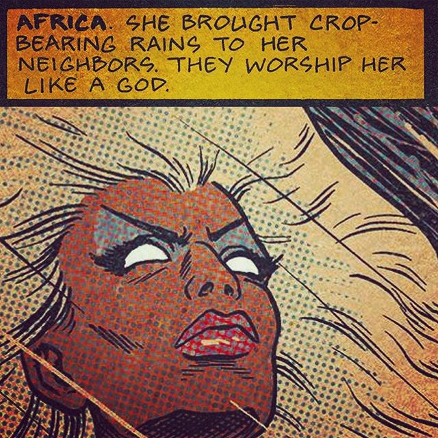 Dropping next week is the next chapter Ed Piskor's X-Men Grand Design. Do. Not. Miss. #XMen #Storm #Ororo #ororomunroe #marvelComics #Marvel #comicbooks #comicbook #granddesign #comics #comic #pullList #comicart #cartoonist #Storm #africa