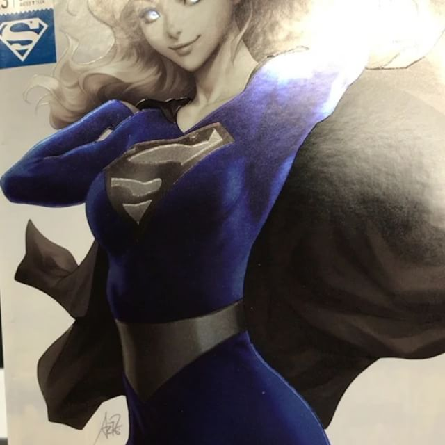 #supergirl #artgerm @artgerm #dccomics #foil #superman #krypton #kryptonite #kara